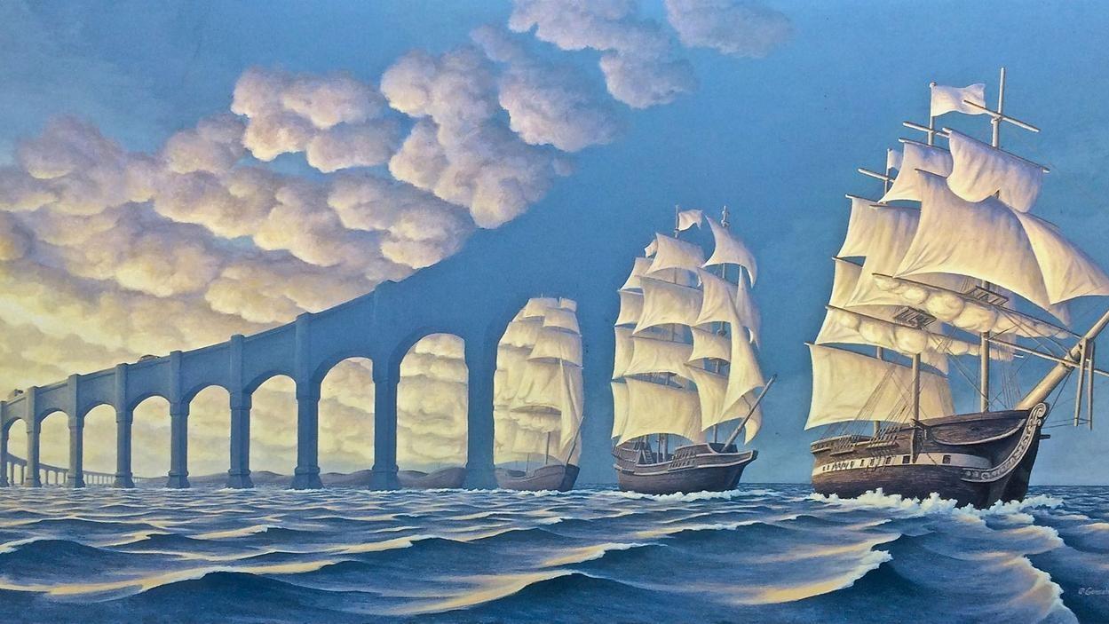 Lukisan Lukisan Surealis Modern Ini Indah Ban Salvador