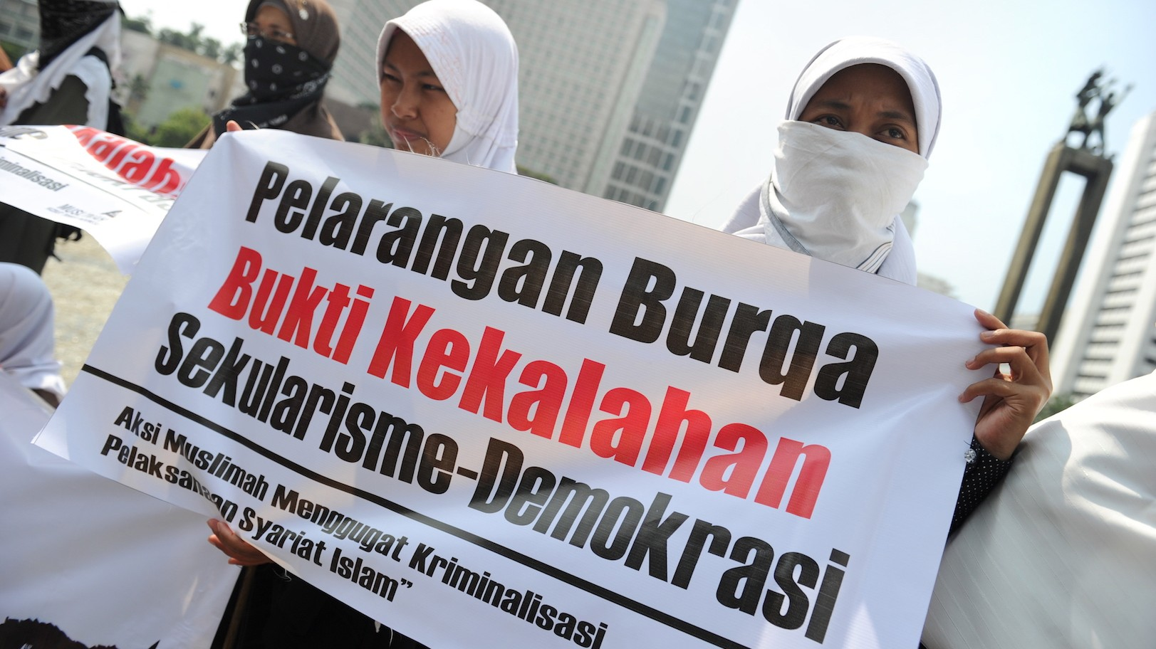 Image result for burqa protest