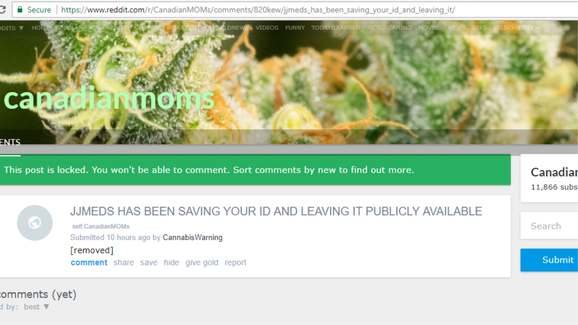 An Online Weed Dispensary Got Hacked By Someone Demanding $1,000 In