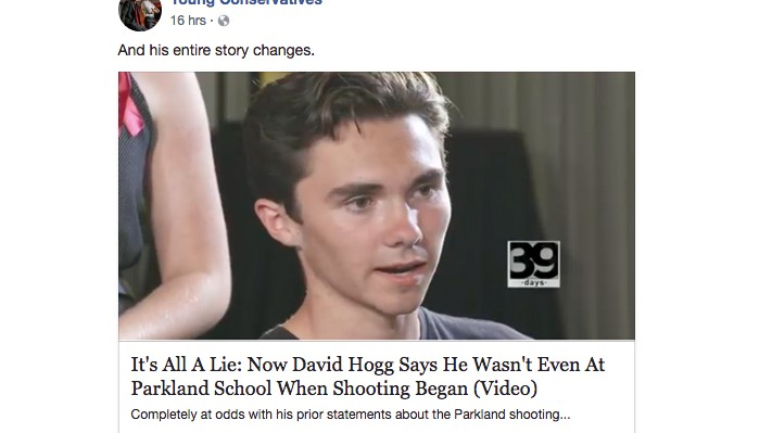 Fake News About the Parkland Kids Is Still Going Viral on Facebook