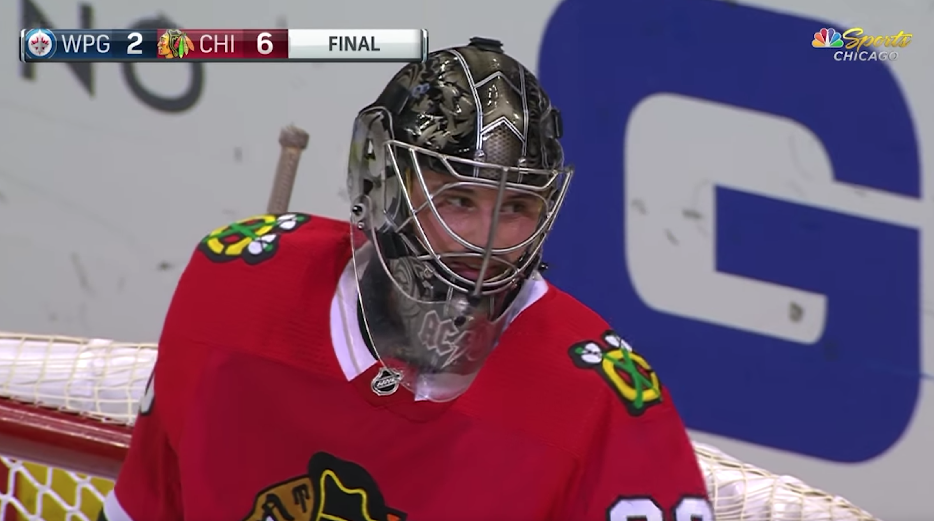 Scott Foster A 36 Year Old Accountant Filled In As Blackhawks