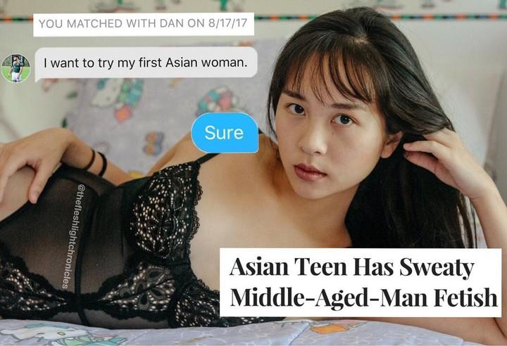 The Meme Account Hilariously Exposing Creepy Asian Fetish Guys on Tinder