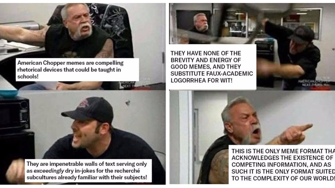 The Angry 'American Chopper' Argument Meme Has Gone Meta