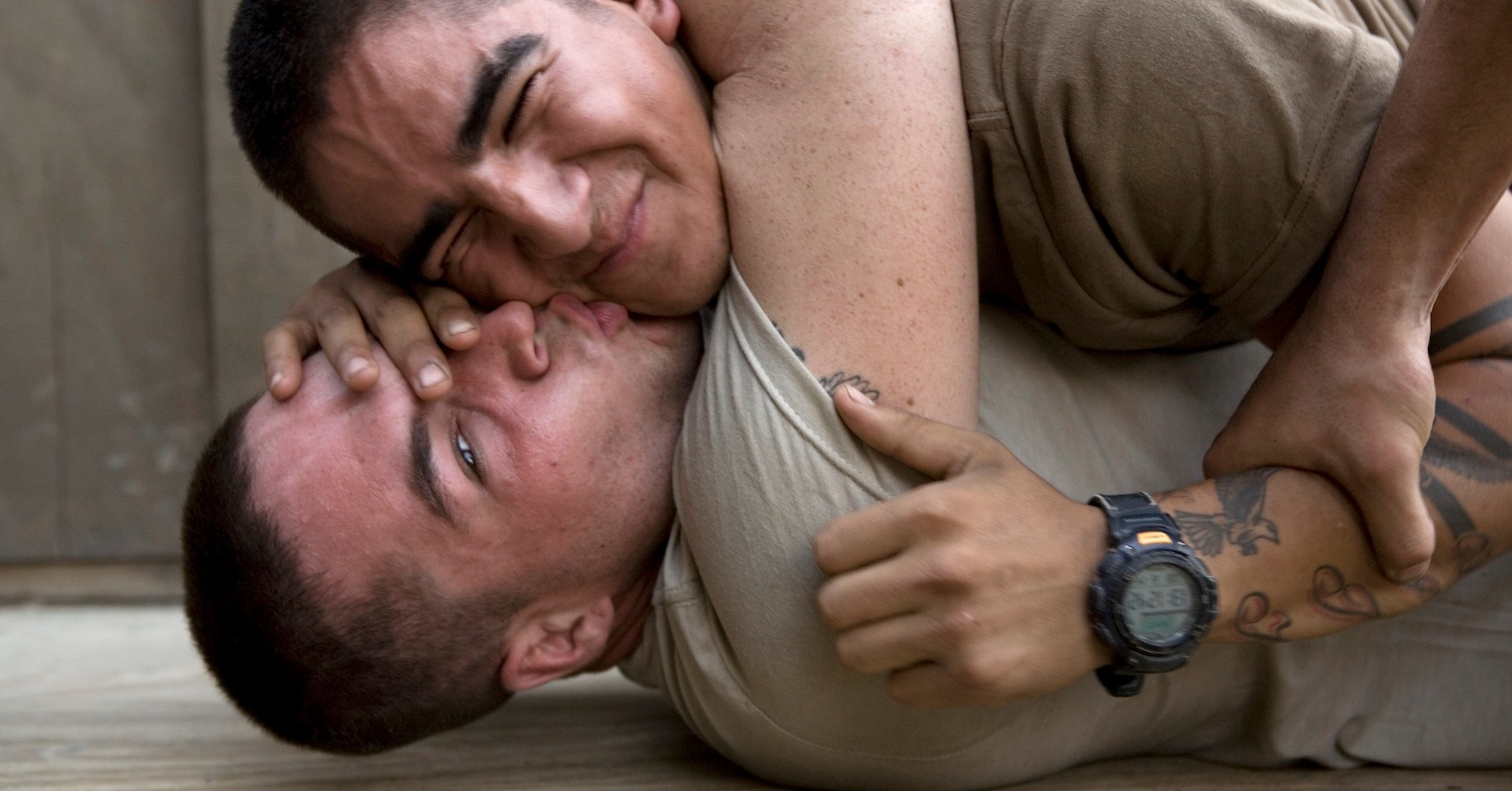 These Photos Are a Tender Look at Male Sexuality and War