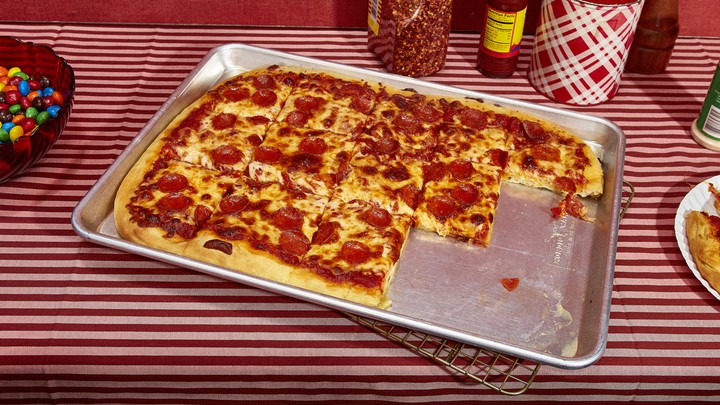 Sheet Pan Pepperoni Pizza Recipe