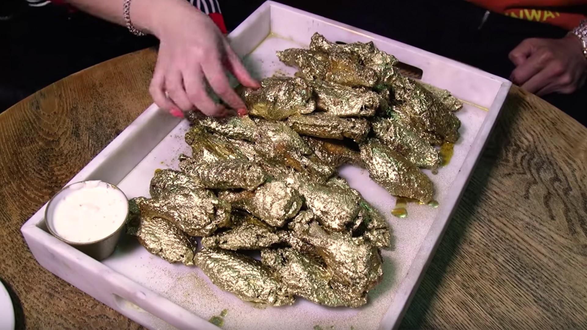 Jonathan Cheban S 24 Karat Gold Chicken Wings Are Way Too