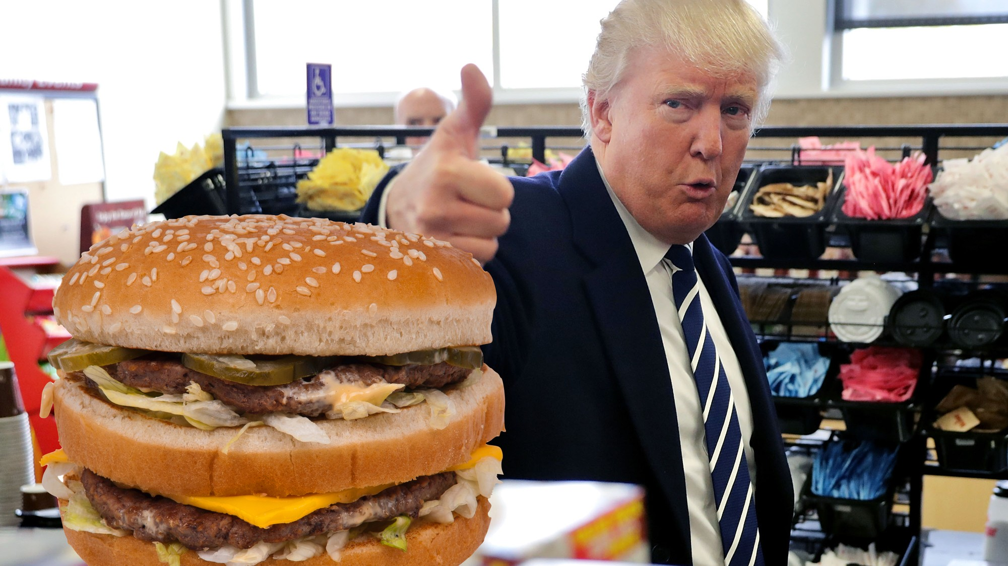 Image result for trump cheeseburger