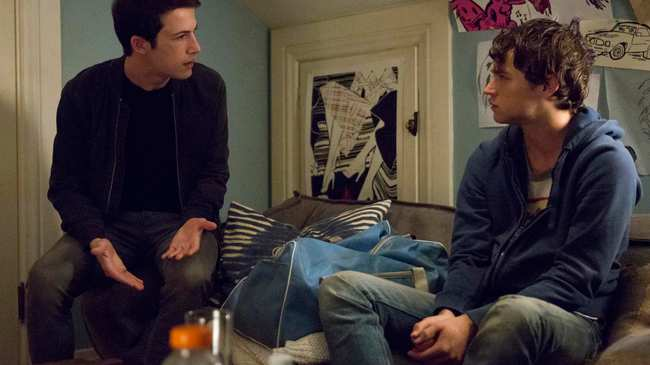 Image result for clay helps justin 13 reasons why season 2