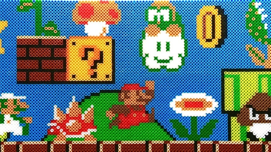 inside the pixelated world of perler bead art motherboard