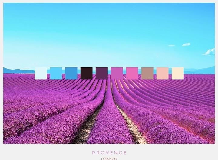 10 maravillas naturales y su paleta de colores