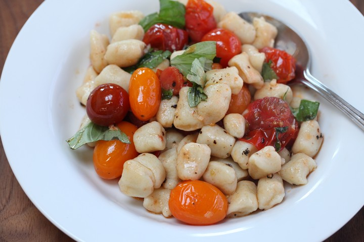 Tomato and Basil Potato Gnocchi Recipe