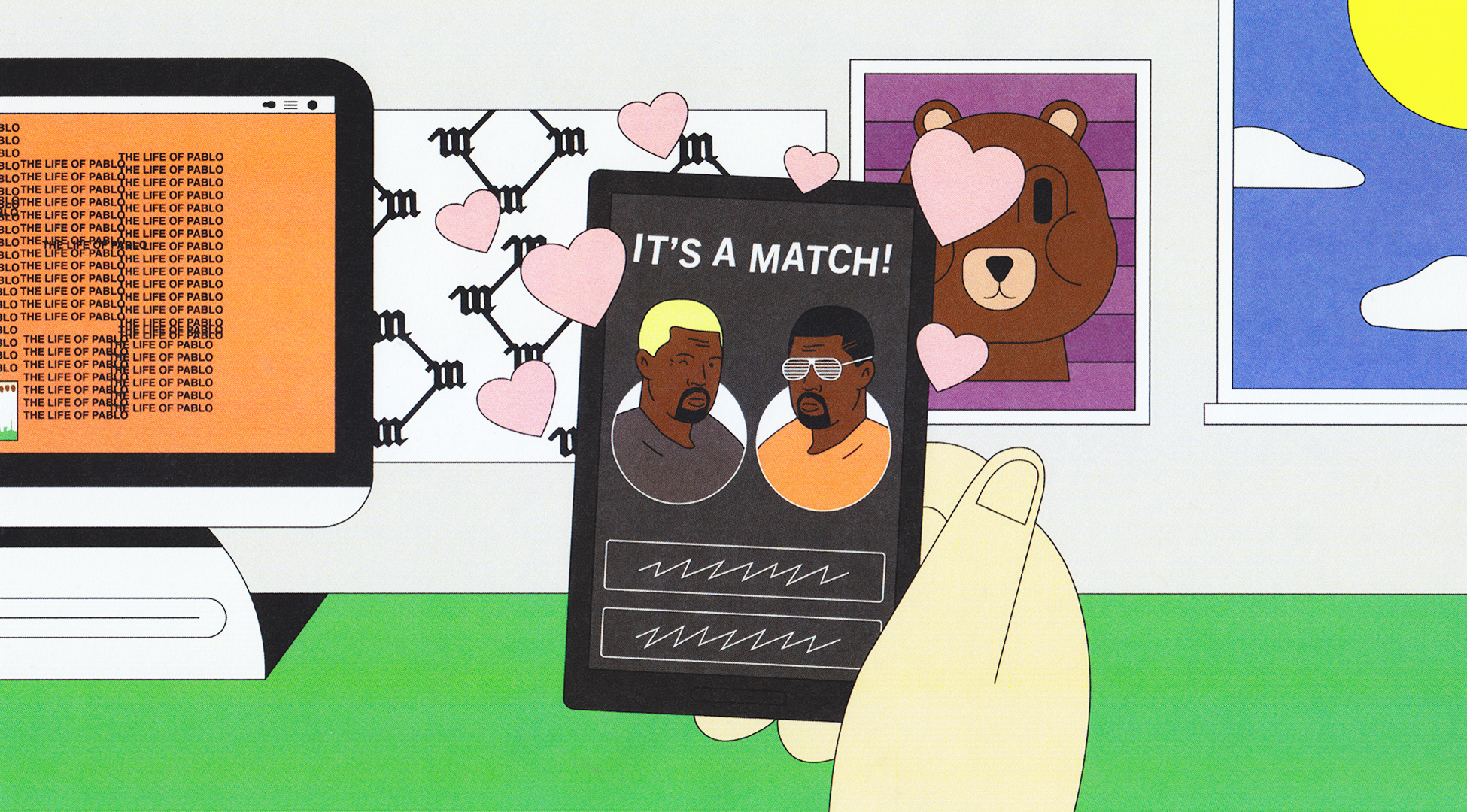 I Signed Up for the Kanye Dating Site and Swiped Right into a Weird Mystery  - Noisey 1c9c5d38e33d