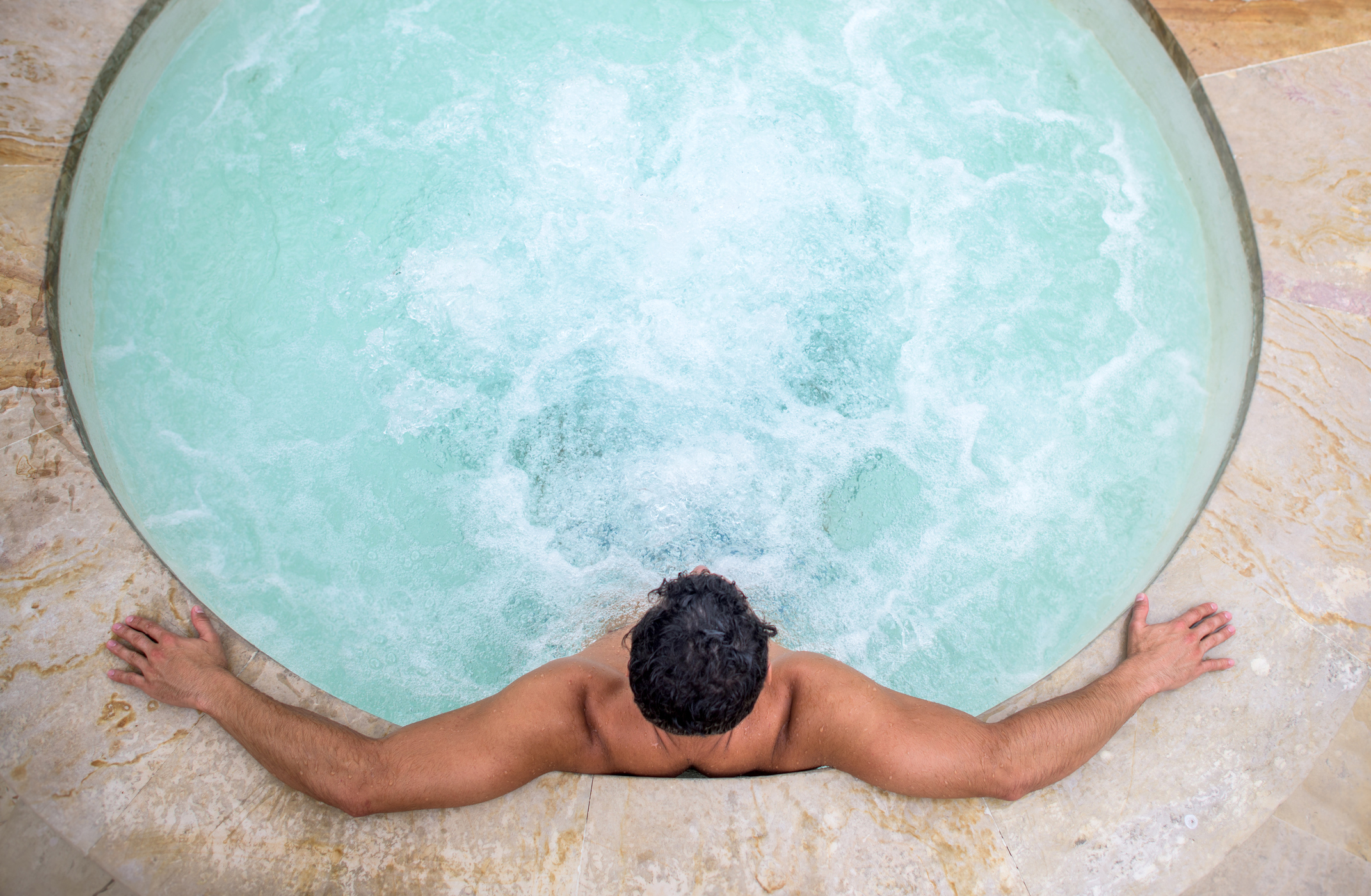 Community hot nake tub type