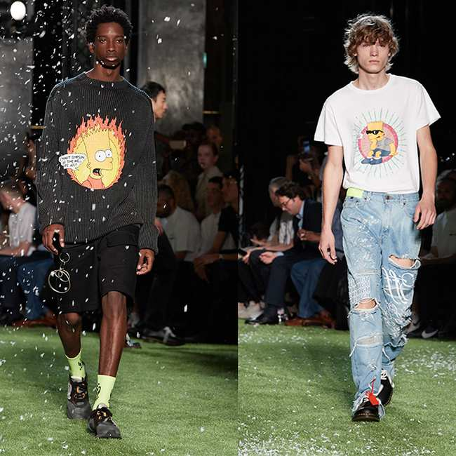 abd6ff9b8a42 the star of virgil abloh s latest off-white collection is bart simpson