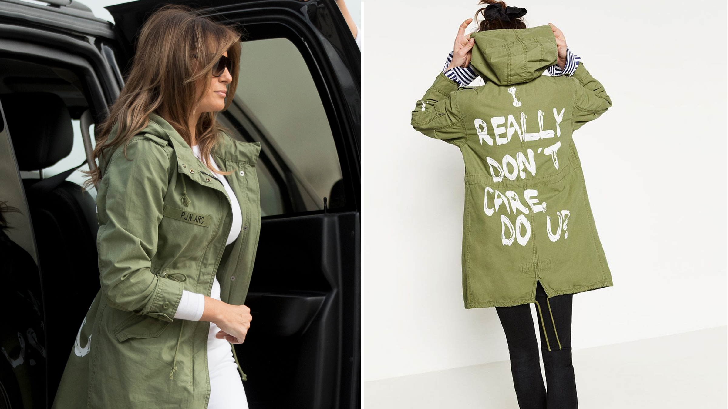 Melania Wore an Absurdly Insensitive Jacket on Visit to Border