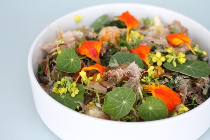 Tempura Aubergine with Dashi and Summer Vegetables Recipe