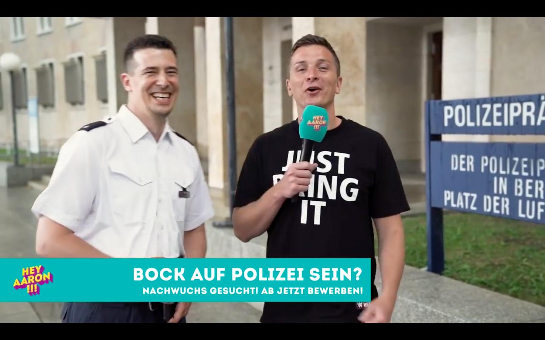 Berliner Polizei Lädt Youtuber Ein Der Polizistin Vor Laufender