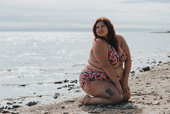 Nudist girl on the beach