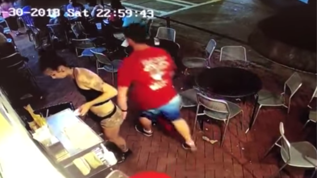 Ass Grope watch a waitress take down a creep who groped her - vice