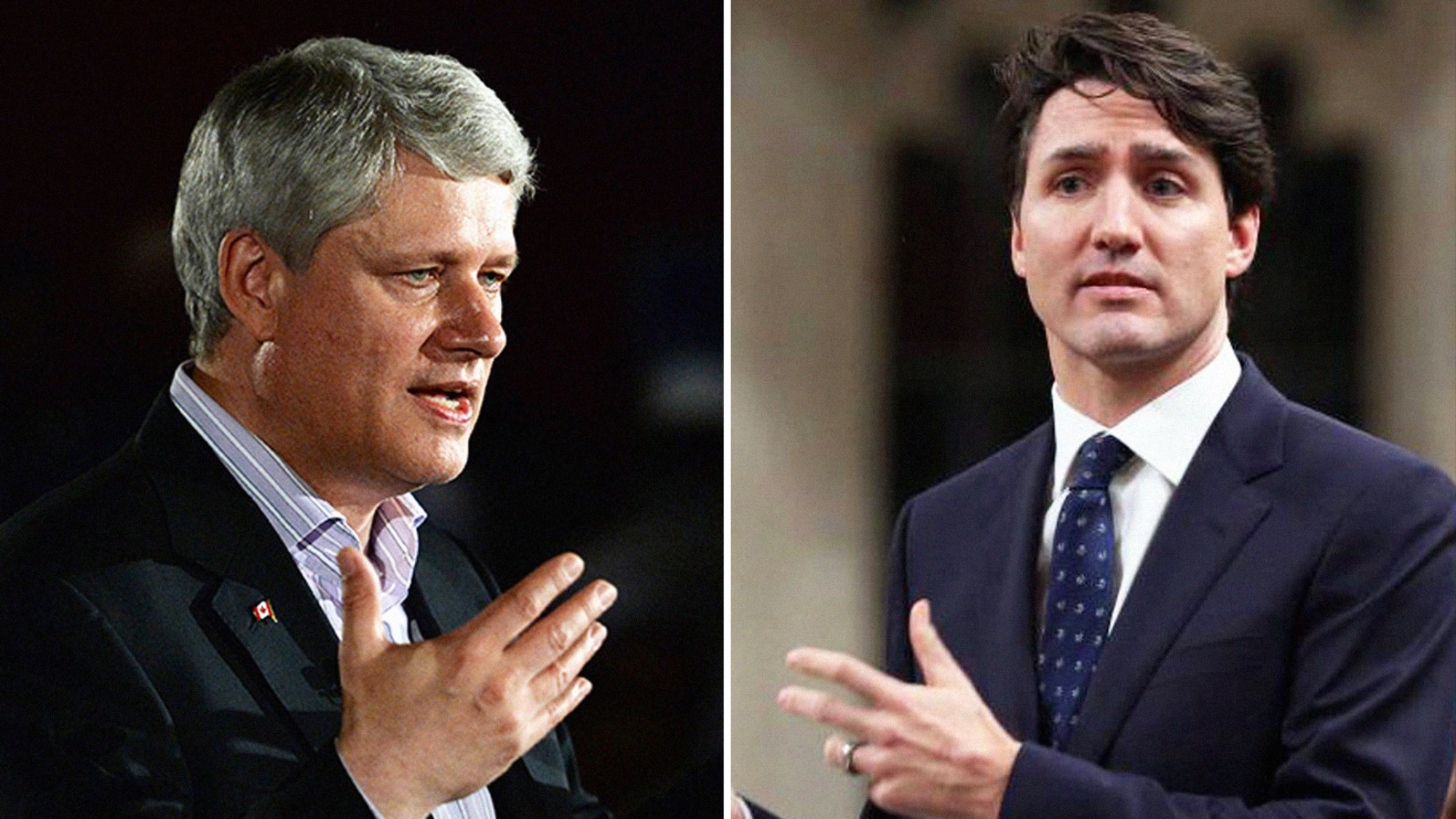 Image result for stephen harper justin trudeau