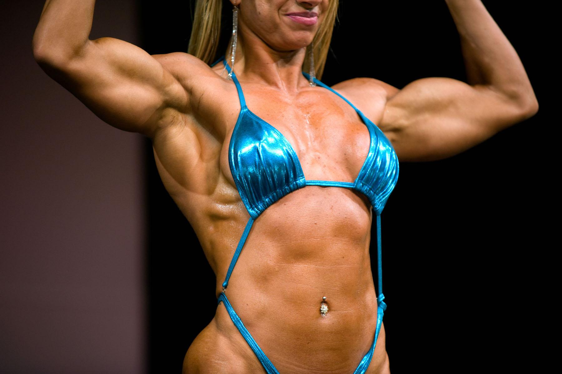 Body builder female fetish