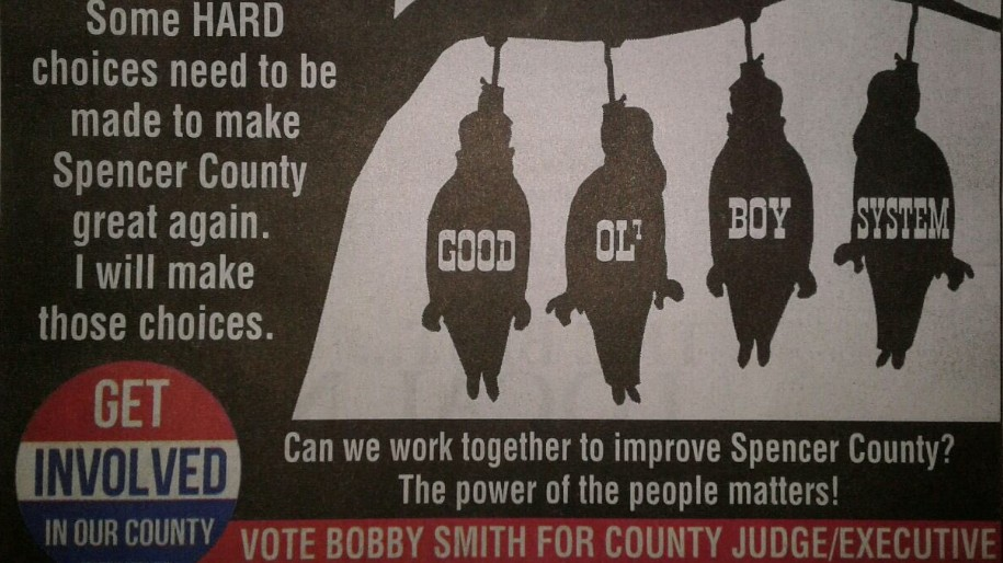 kentucky democrat s campaign ad features lynched bodies spelling out