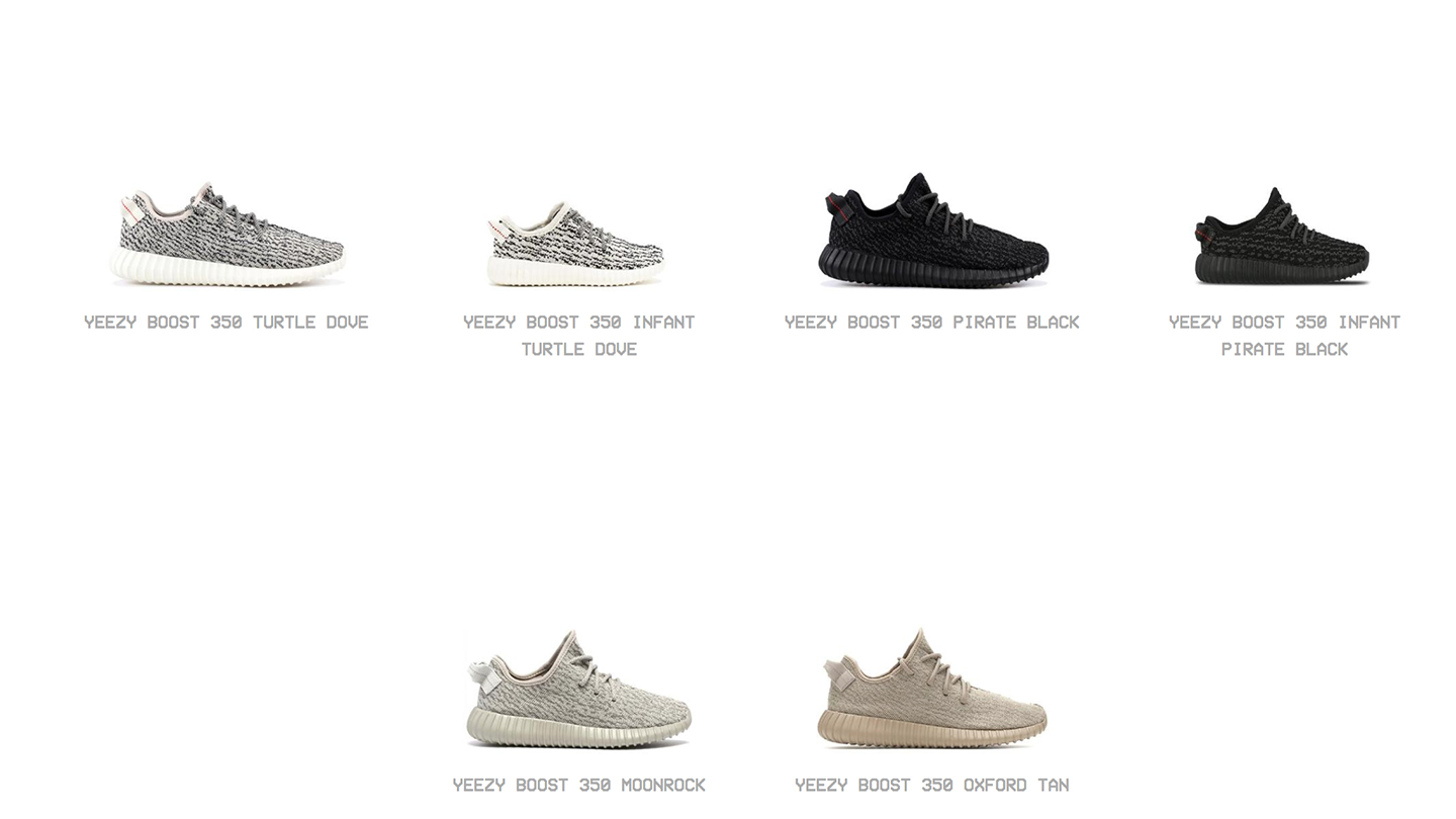 all yeezy shoes ever