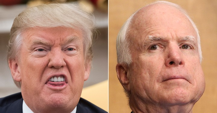 The President's Post-Death Feud with McCain Is Trump at His Petty Worst