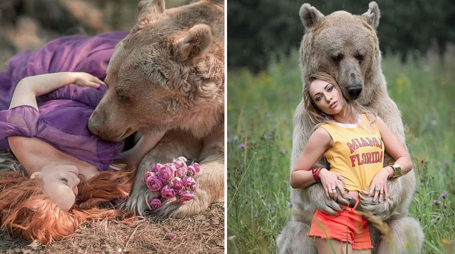 vice.com - Nourhan Hesham - The Bizarre Story Behind These Sensual Photos of Women and Bears