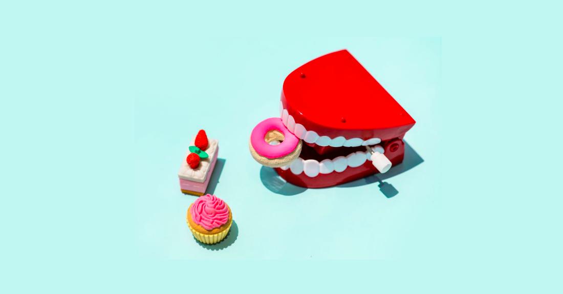 Hören Sie auf, Gebäck und Gewichtsverlust zu essen