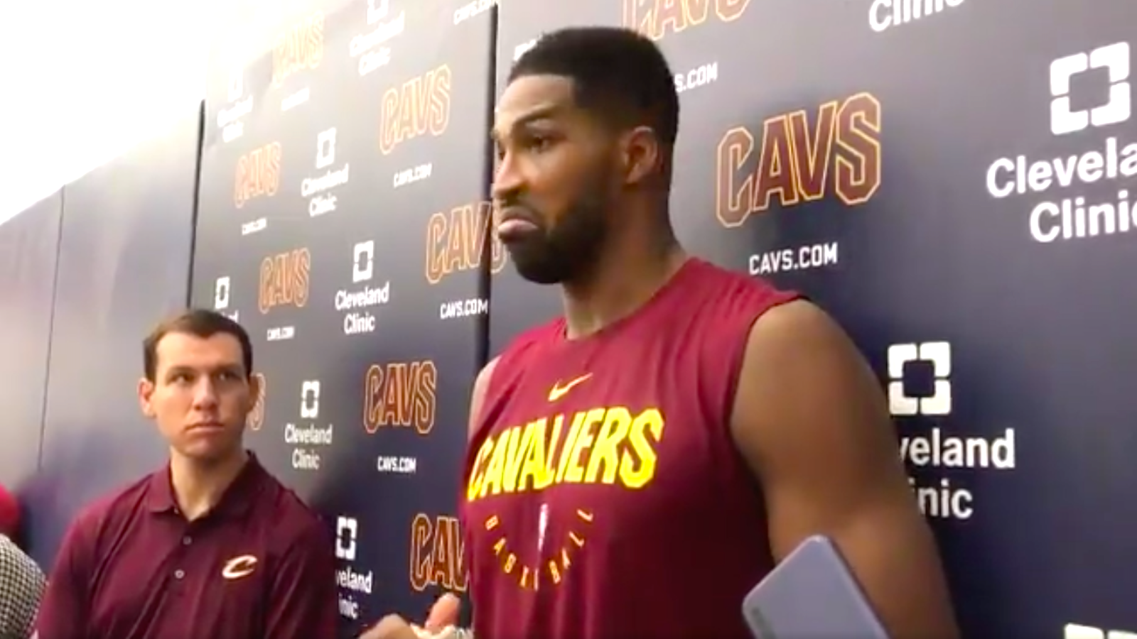 f43fac12656 Does...Does Tristan Thompson Think LeBron is Still on the Cavs? - VICE
