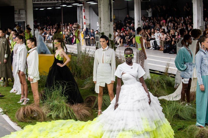 eight female athletes just walked the off-white olympics