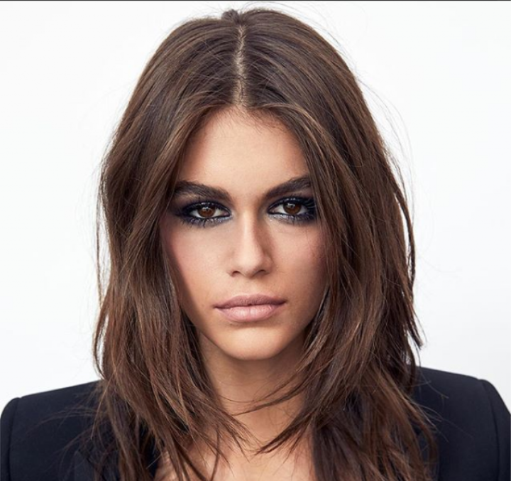 kaia gerber is the youngest face of ysl beauty