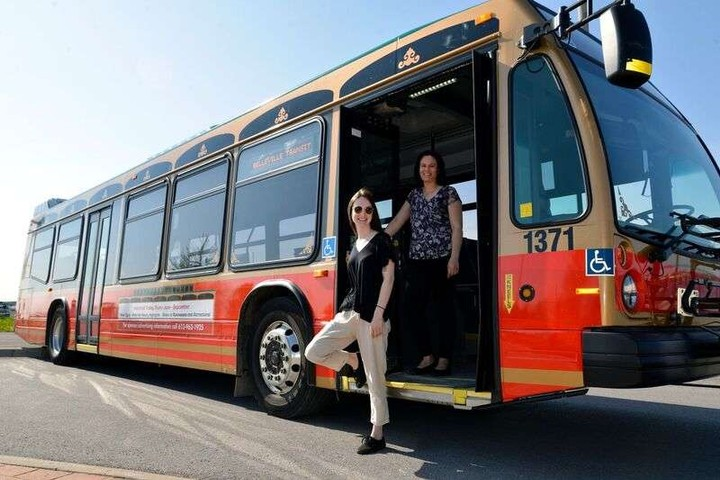 You Can Hail A Public Bus Like An Uber In Belleville