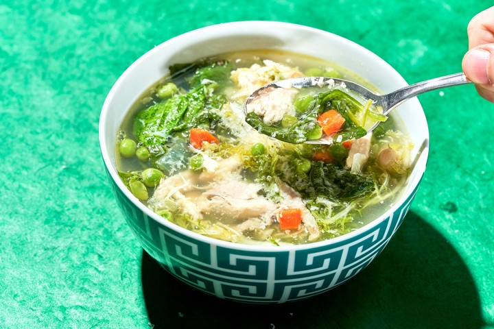 Chicken and Greens Soup Recipe