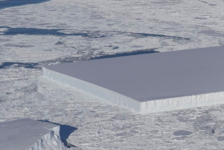 How Did Nature Form This Near-Perfect Rectangular Iceberg?