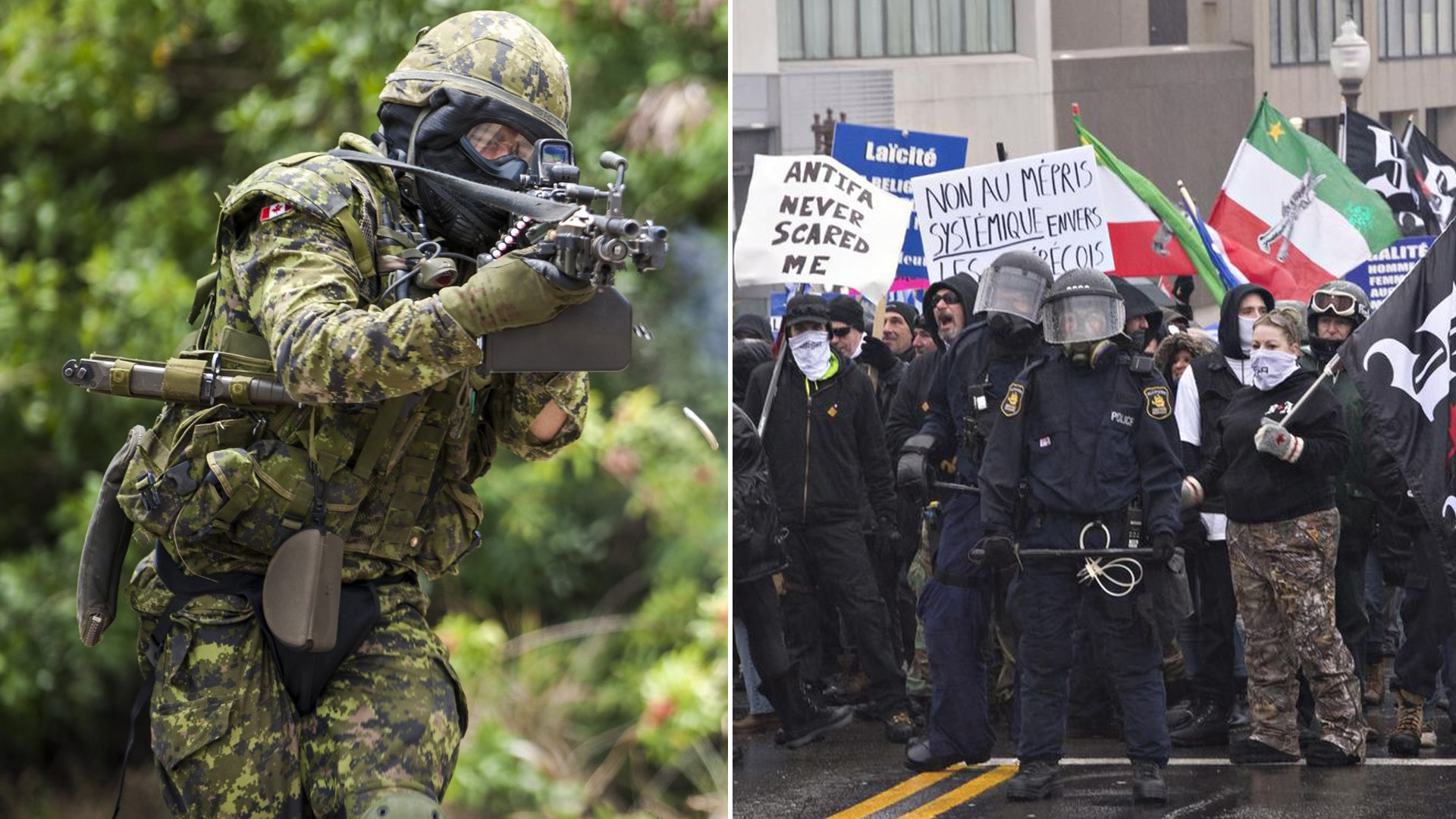 infiltration Canadian Forces fascism Nazi military violence youth paramilitary hate racism xenophobia islamophobia anti-semitism
