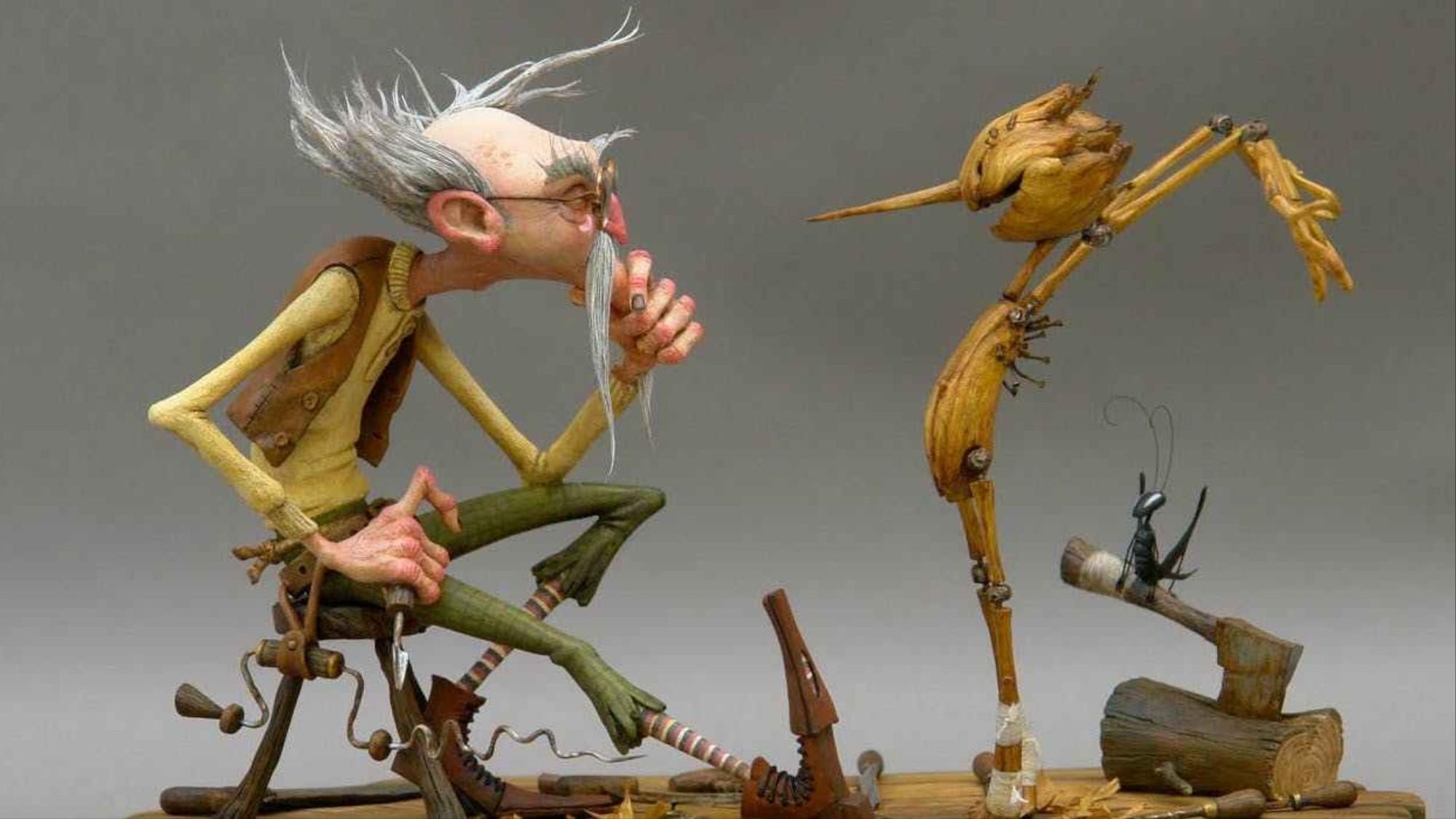 Bocetos de Del Toro y Grim Grimly