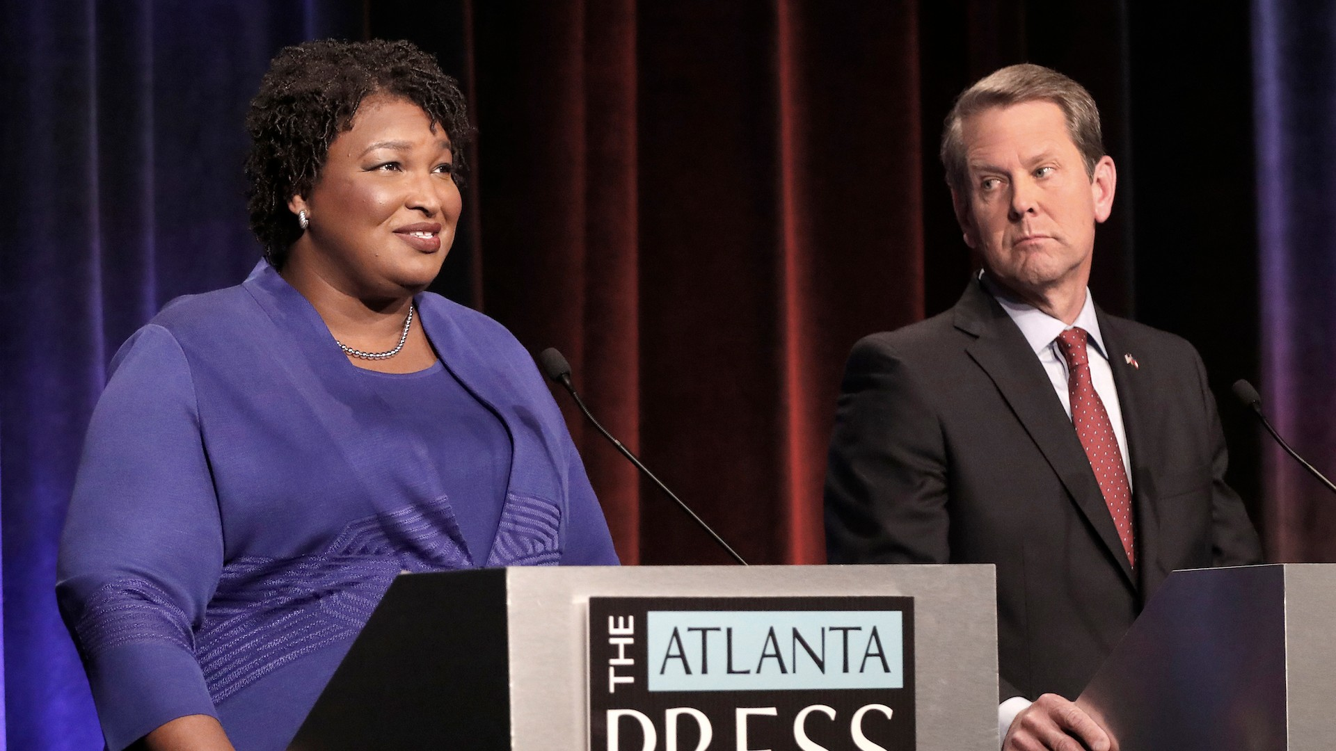 Some Georgia voting machines aren't counting votes for Democrat Stacy Abrams, NAACP says