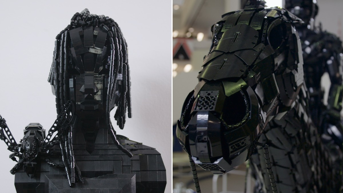 QnA VBage This Artist Builds Sculptures Using Only Black Lego