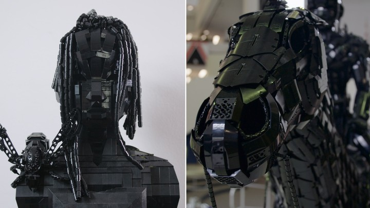 This Artist Builds Sculptures Using Only Black Lego