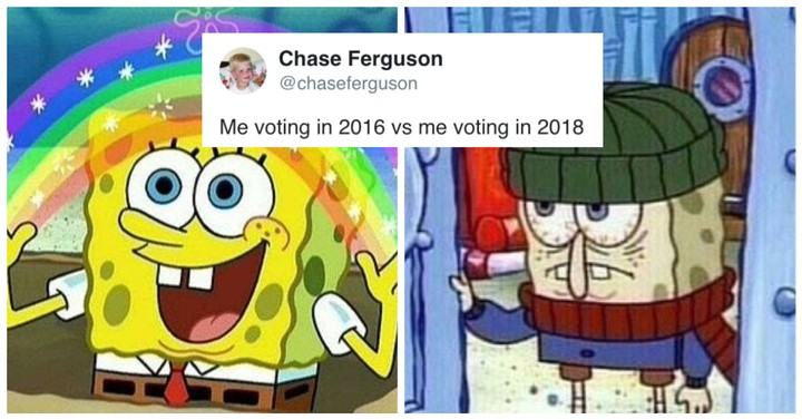 56c67428 The 'Voting in 2016 vs. Voting in 2018' Meme Sums Up America's Current