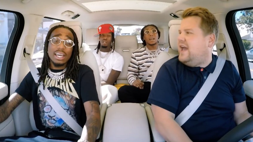 Having Migos on Carpool Karaoke Is the Best Thing James Corden's Ever Done