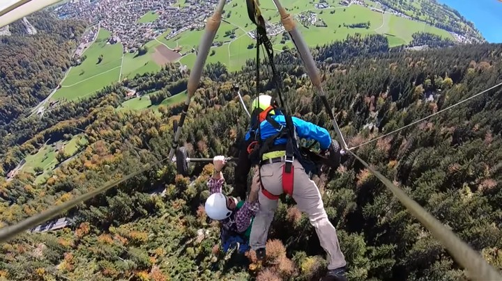 This Video of a Guy Accidentally Hang Gliding Without a Harness Is Pure Terror