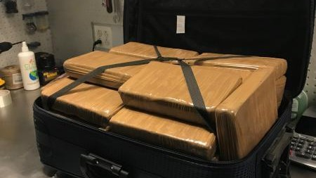 The cops have a suitcase packed with $1.3 million in cocaine in case anyone was looking for it