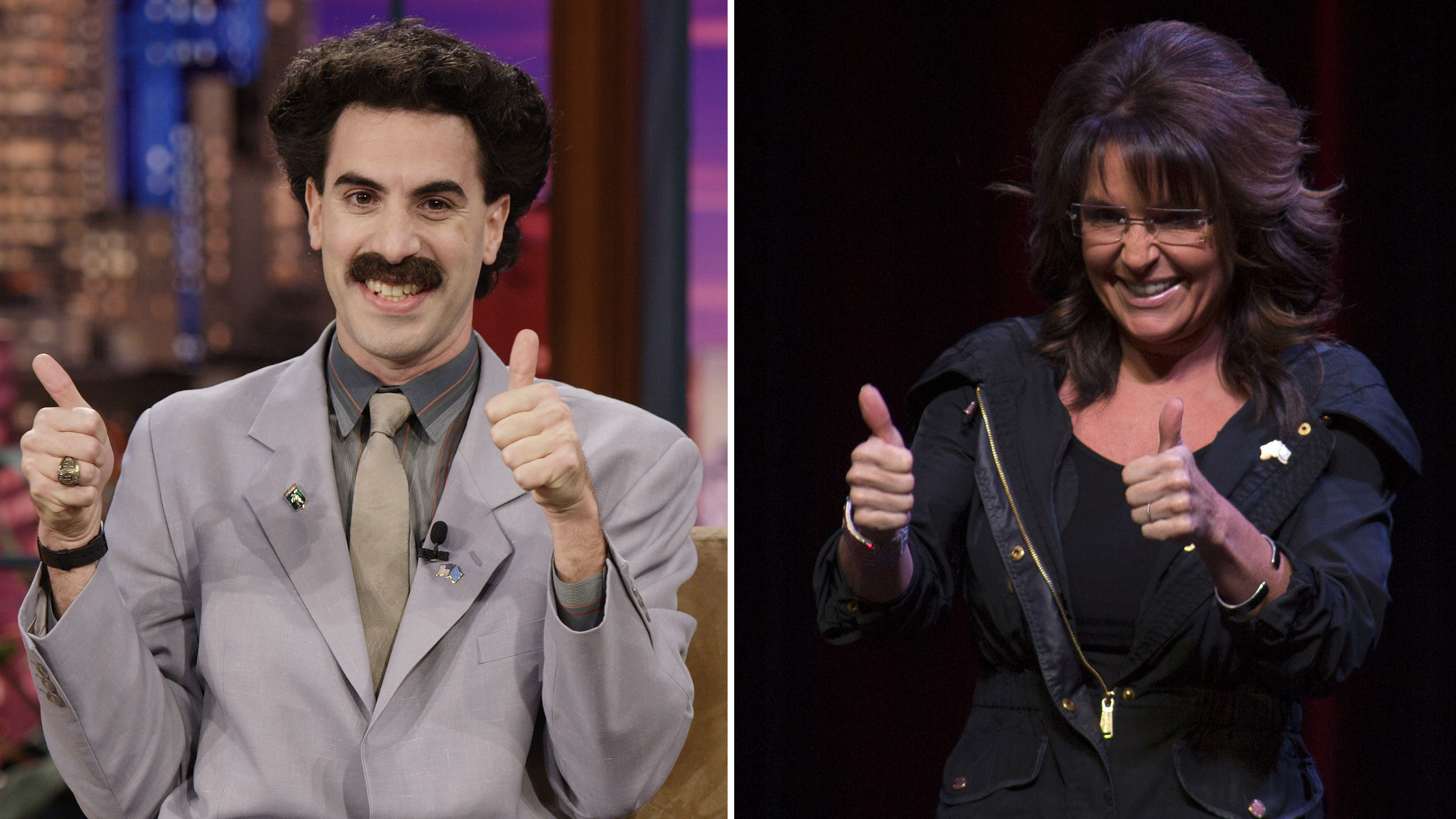 Sacha Baron Cohen Just Asked Sarah Palin to Be His 'Date' to the Golden Globes