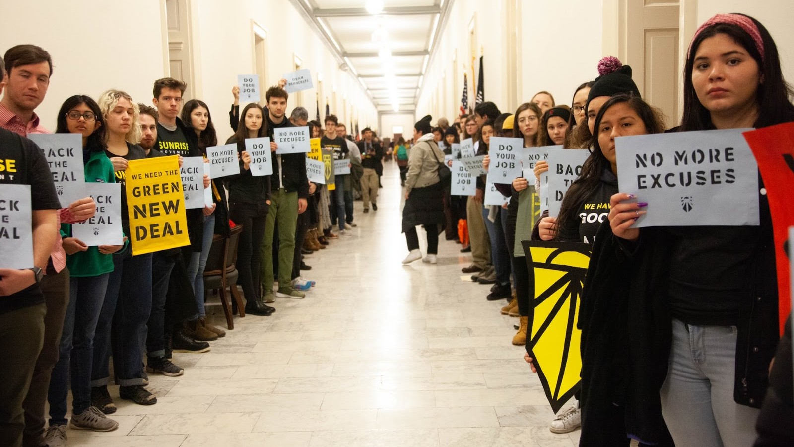 Pelosi offers meeting to Green New Deal activists after 61 protesters are arrested at her office