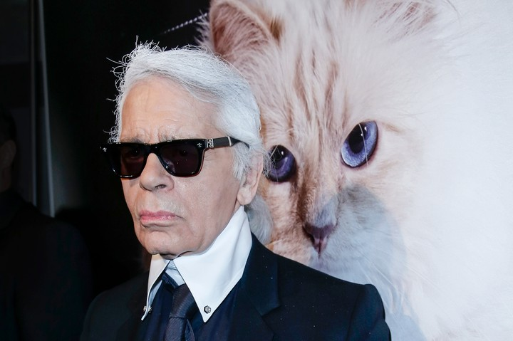 Karl Lagerfeld Says He Texts With His Cat