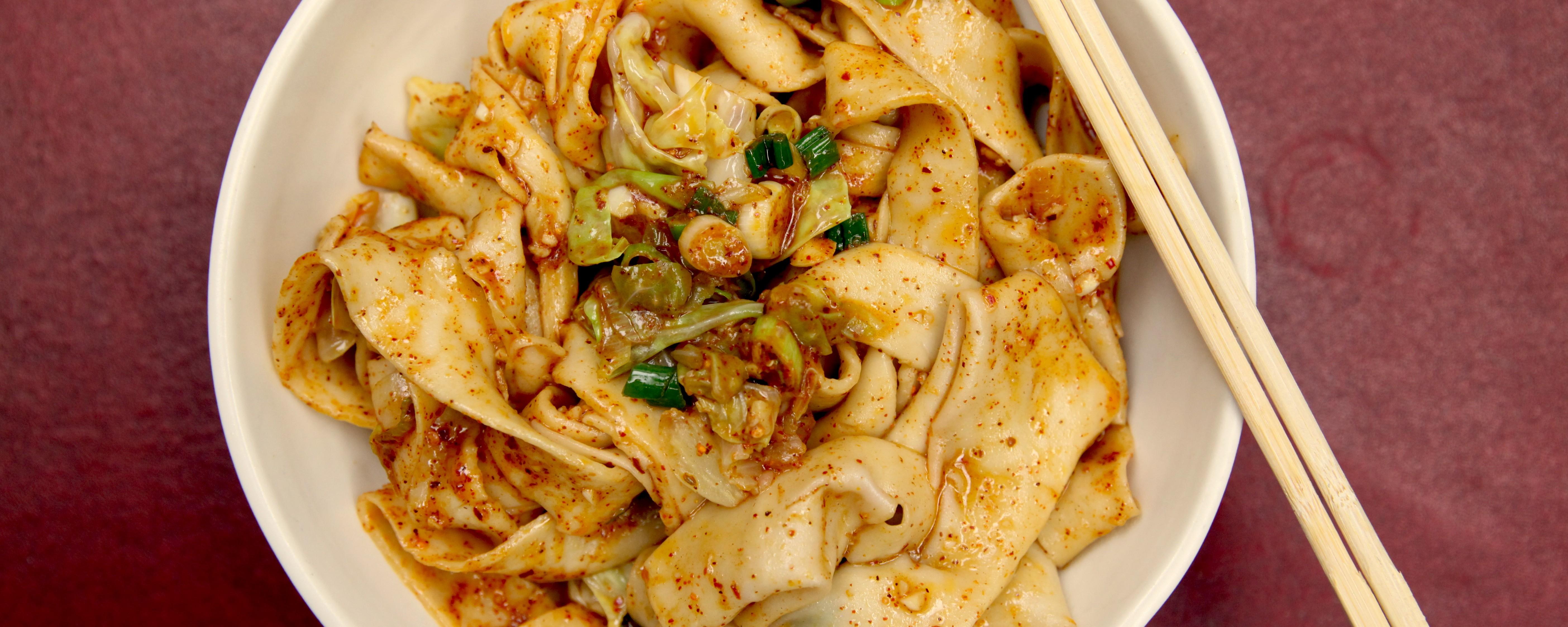 Ricetta Noodles Fatti A Mano.Ricette Di Noodles Fatti In Casa Noodles Cinesi Stirati Biang Biang