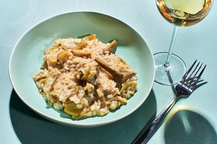 Salt Cod and Artichoke Risotto Recipe
